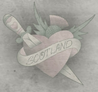 Heart Dagger & Thistle